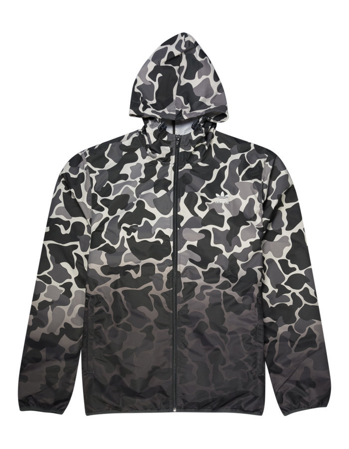 Adidas camo windbreaker in white