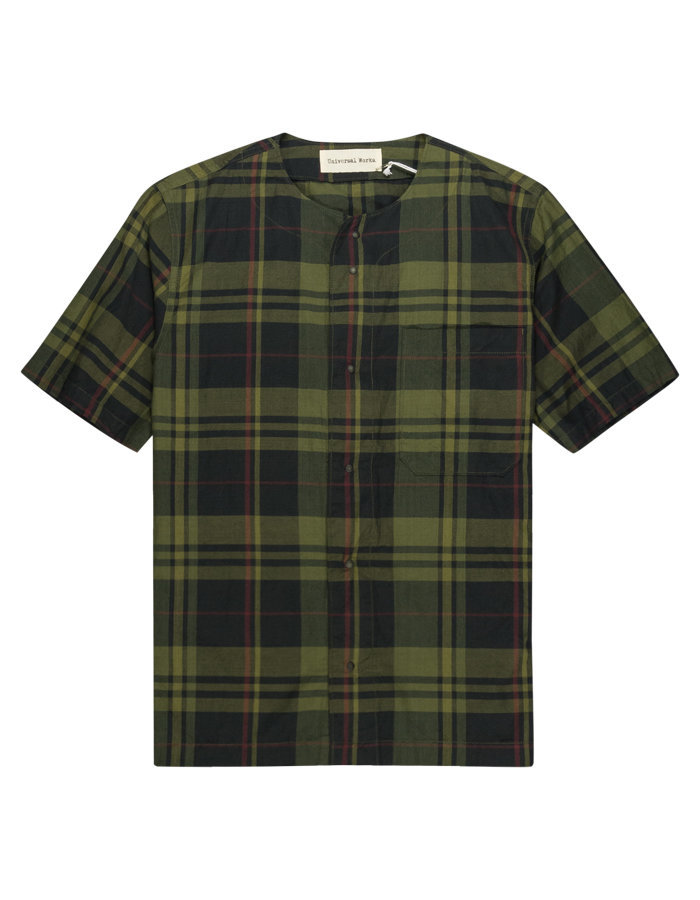 UNIVERSAL WORKS BASEBALL SHIRT IN OLIVE