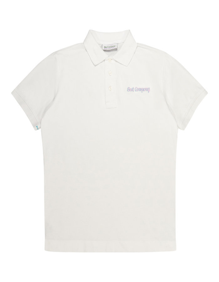 Best Company logo polo shirt in white