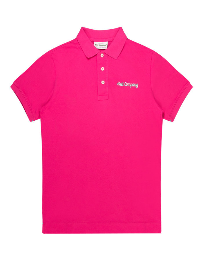 Best Company logo polo shirt in pink