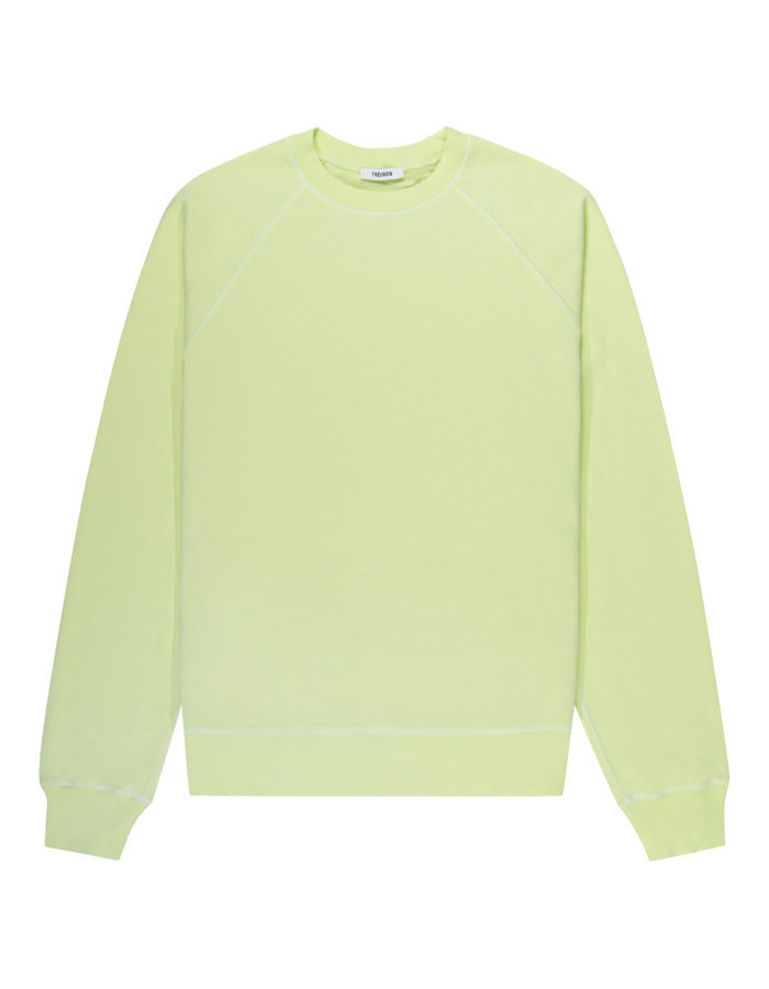 Tres bien overdye sweat in luminary green