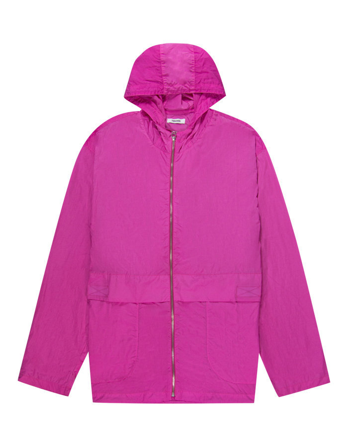 Tres bien simple parka jacket in pink