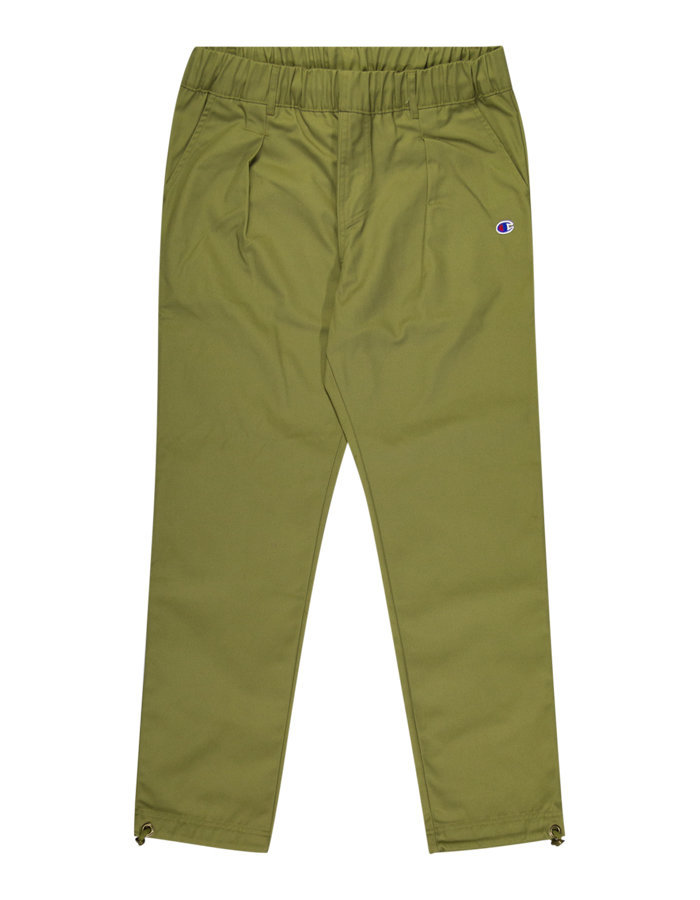 Champion straight hem drawstring pant in olive
