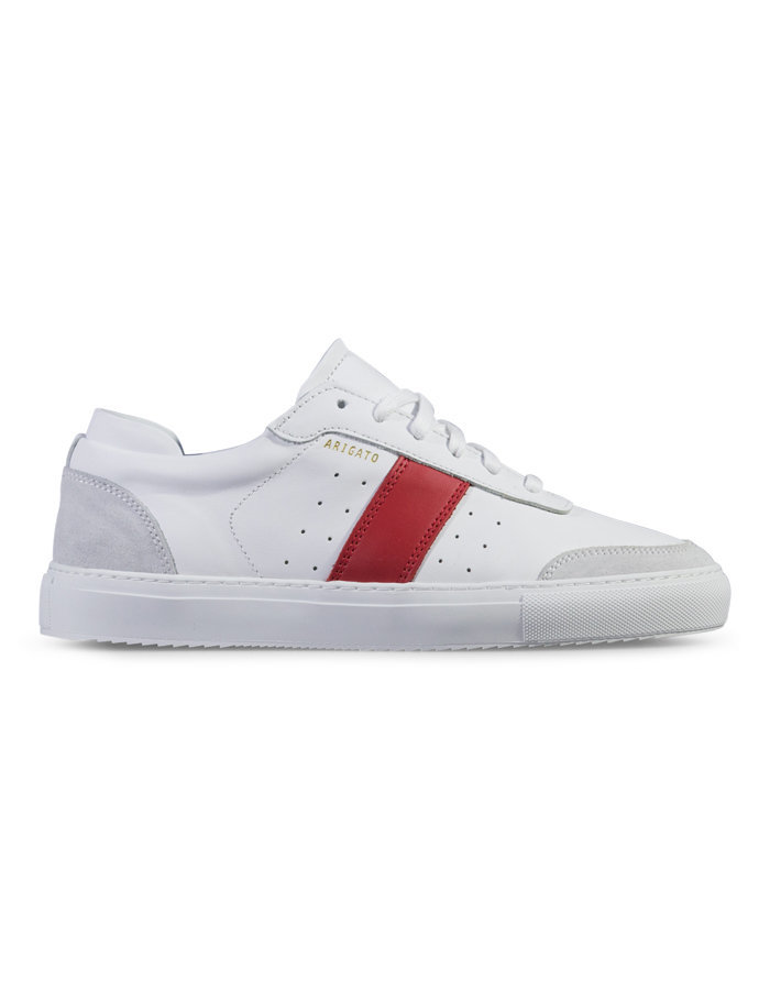 Aexel arigato dunk sneaker in white/red