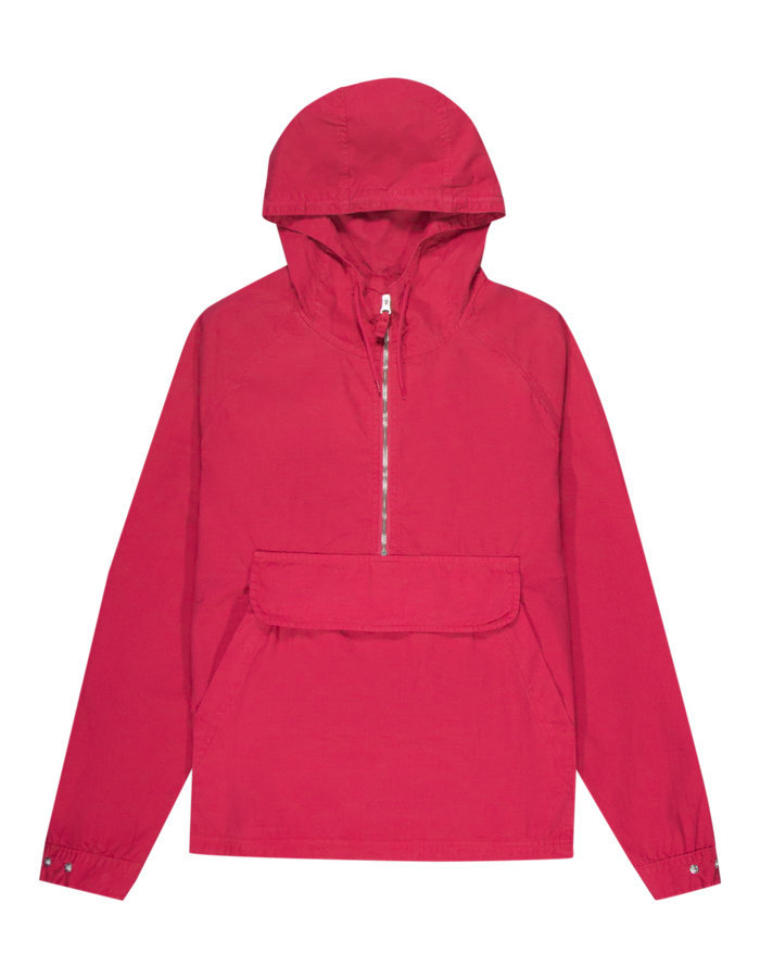 Pop trading company drs half zip hood in red
