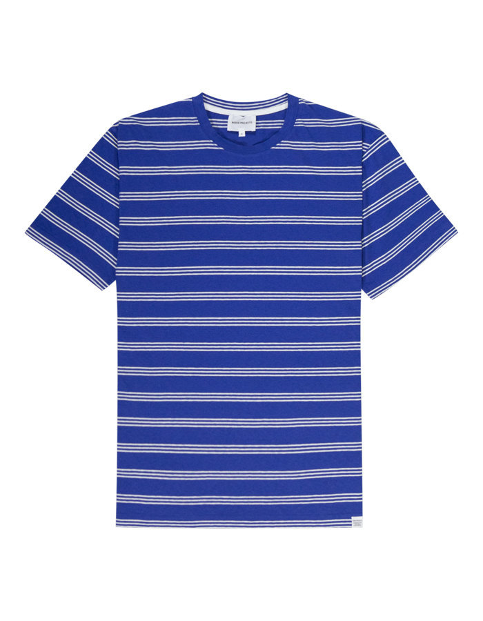 Norse projects johannes t-shirt in blue