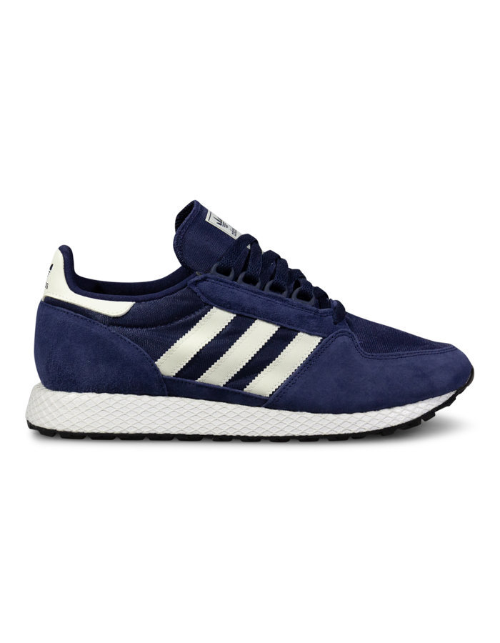 Adidas forest grove sneaker in navy/white