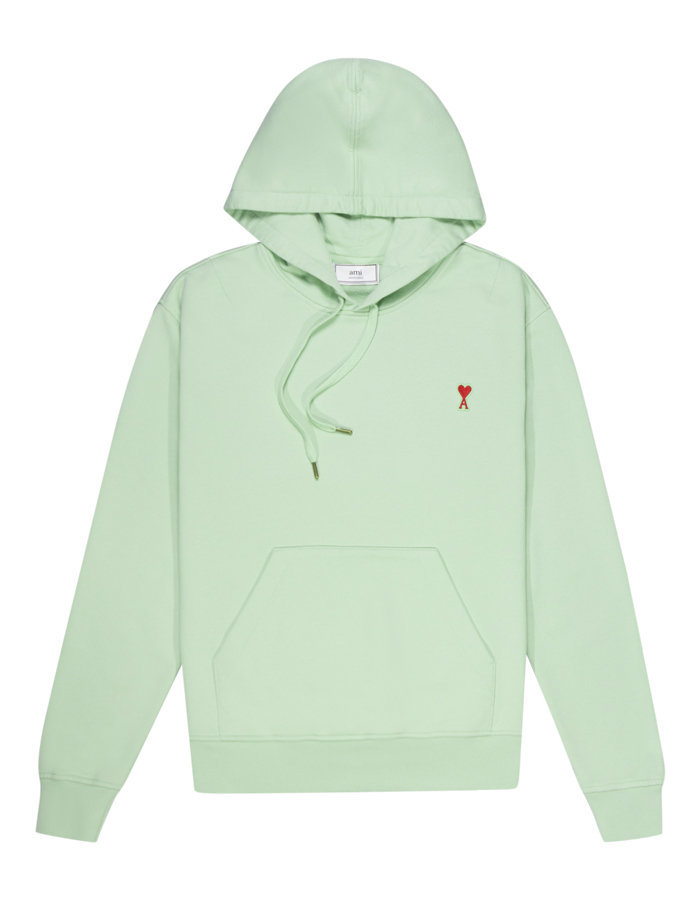 AMI a heart patch logo hoody in pale green