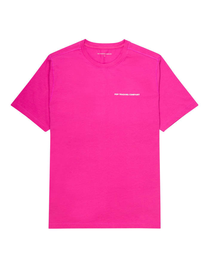 POP TRADING COMPANY LOGO T-SHIRT IN PINK