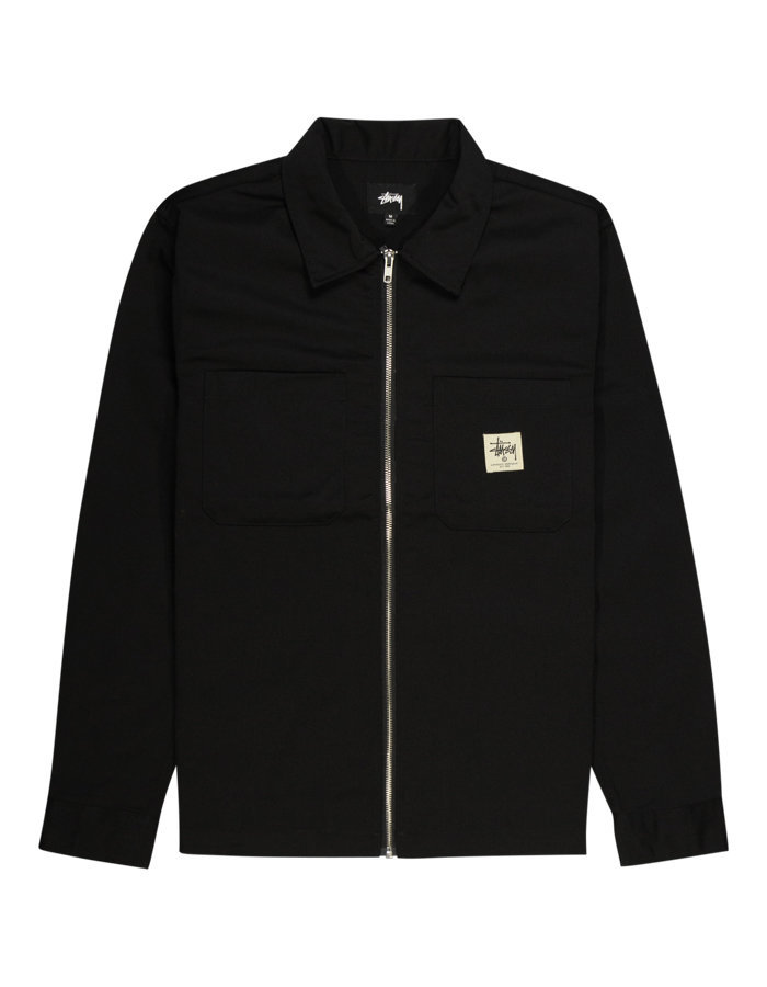 Stussy zip workshirt in black