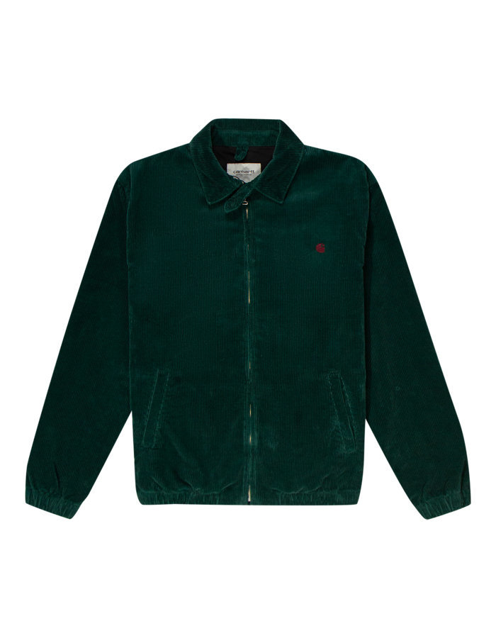 Carhartt madison cord jacket in fern green