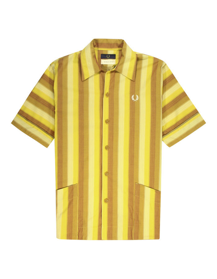 Fred perry x Nicholas Daley striped shirt in dijon yellow