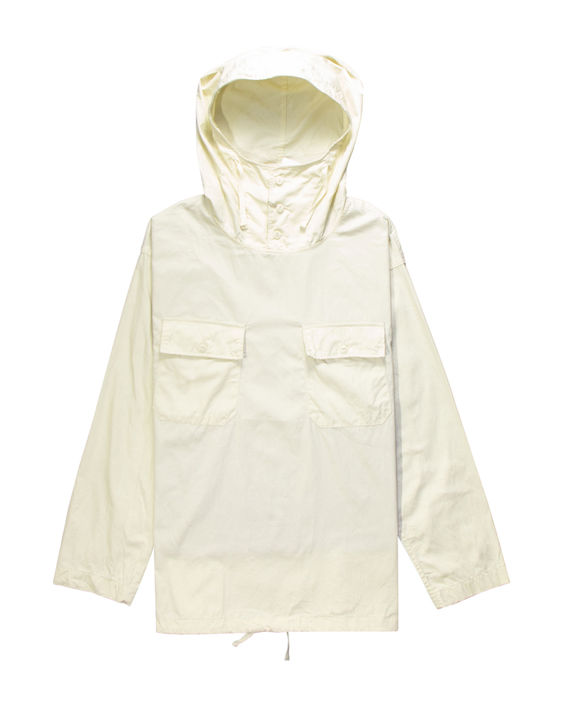 Engineered garments cagoule shirt in ivory