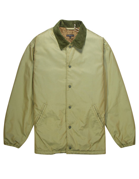 Engineered Garments Fleece-Lined Iridescent Twill jacket in olive