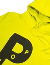 Pop Trading Company big P hood in electric yellow  Thumbnail