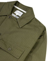 Norse projects mads herringbone shirt jacket in ivy green Thumbnail