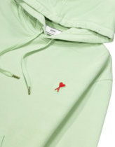 AMI a heart patch logo hoody in pale green  Thumbnail