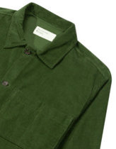 Universal works fine cord uniform shirt in green  Thumbnail