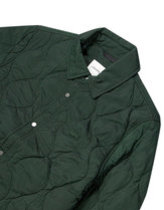 Lacoste tonal croc quilted jacket in green Thumbnail