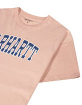 Carhartt theory t-shirt in pink  Thumbnail